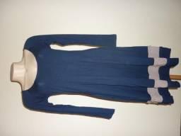 Vestido cor marinho tamanho P (aparência de novo)
