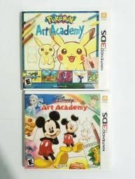 Pokémon Art Academy e Disney Art Academy 3ds - Aceito Cartão