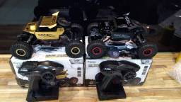 Carrinho 4x4 pneus de borracha suspensão