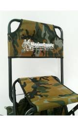 Cadeira para pesca com suporte de varas e mochila