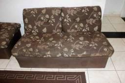 Sofá em Tecido Marrom 1,40m
