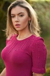 Blusas no tricot