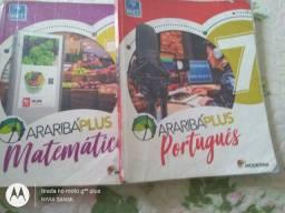 Livros didáticos 7° ano bem conservados