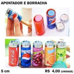 Apontador com Borracha Pepsi Coca-Cola Sucos