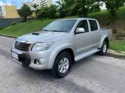 Toyota Hilux SRV prata 2015 4x4 diesel - 2015