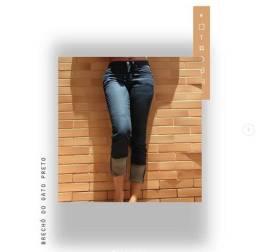 Calça jeans preta Khelf