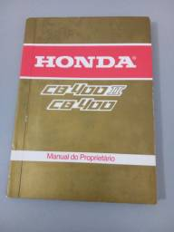 Manual do Proprietário. CB 400 II. Década 1980