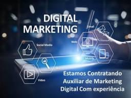 Auxiliar de Maketing Digital para trabalhar em Varzea Paulista