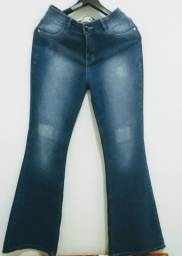 Calça Folic, jeans flare