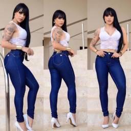Calça Jeans Skinny com Puídos Vintage