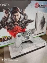 Xbox one X, edição limitada Gears 5 ZERADO!!!