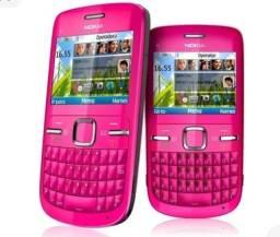 Nokia C3 Rosa Wifi Bluetooth 1 Chip Desbloqueado