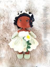 Amigurumi boneca princesa Tiana