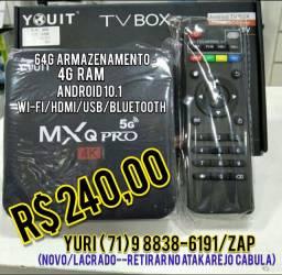 Tv box 4G Ram 64G de memória, Android 10.1,4k,5G,NOVO