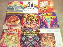 Lote 9 discos coletâneas