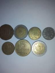 Vendo 7 moedas de outros países.