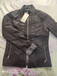 Jaqueta de couro Marrom (Tamanho G)