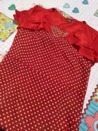 Vestido de Poá vermelho