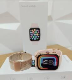Relógio Smart P8 Plus - NOVO ORIGINAL (Monitor de saúde, redes sociais, esportes)