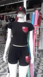 Conjunto do Flamengo feminino em promoção!