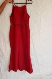 Vestido de festa/ Social Vermelho/Vinho - M