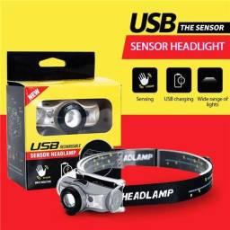 Título do anúncio: Lanterna de cabeça com sensor ciclismo trilha