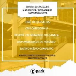 Título do anúncio: Manobrista / Operador de estacionamento