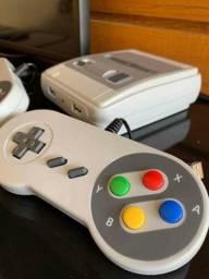 Nintendo classico antigo com 620 jogos