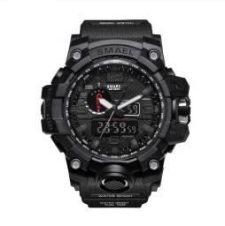 Relógio Militar Tático Smael G Shock Preto a prova da água C/ Caixa