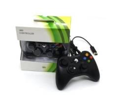 Controle Manete Com Fio Xbox 360 Joystick Barato Promoção - Preto