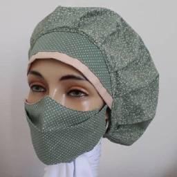 Título do anúncio: Conjunto máscaras e toucas