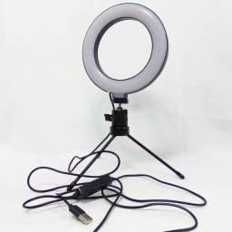 Ring Light de 16 centímetros (6,5 polegadas) com 3 ajuste de cores