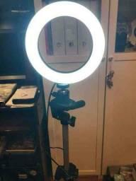 Iluminador RING LIGHT 26 cm com Tripé  + suporte central ???