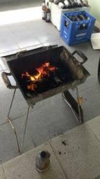 Churrasqueira em alumínio batido