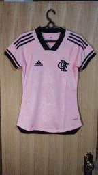 Camisa Flamengo Feminina Outubro Rosa Baby Look