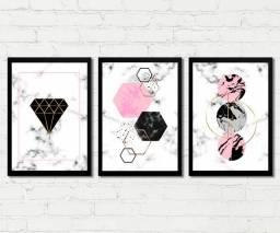 Quadros Decorativos Abstrato Geometrico para sala, quarto, escritório
