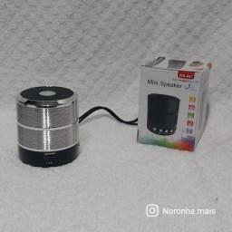 Mini Caixinha Som Ws-887 Bluetooth Portátil Usb Mp3 P2 Sd Rádio Fm