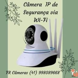 Câmera de segurança via Wi-Fi/ visão noturna / imagens HD / garantia