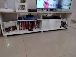 Rack branco TV sala