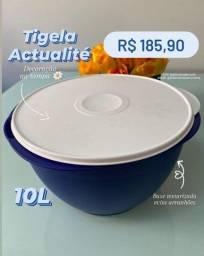 Tupperware Tigela/Vasilha Grande Actualité 10 litros azul - Nova e Original