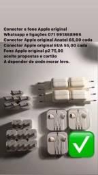 Conector e fone Apple original