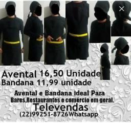 Avental e Bandanas Padrão Tecido Profissional Promoção Atacado