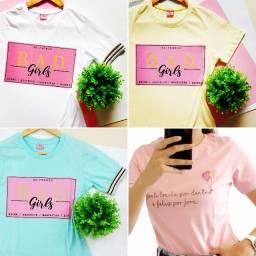 12 T-Shirts Feminina No Atacado!