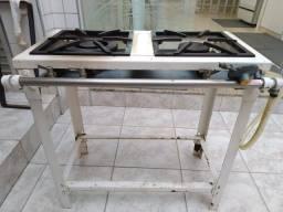 Fogão semi industrial de alta pressão