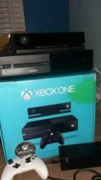 Xbox one com kinect fone headset 1 controle original !!!