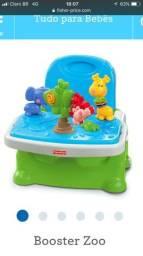 Cadeirinha de alimentação Fisher-Price c/ brinquedo Booster Zoo