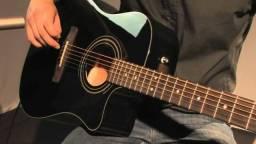 Violão Fender CD 60 CE BK c/ Case (Folk)