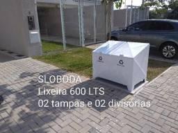 Lixeiras modelo container 600 LTS Residências, condomínios, lojas e indústrias