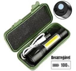 Título do anúncio: Mini Lanterna Led Tatica Recarregável Camping C/zoom + Case