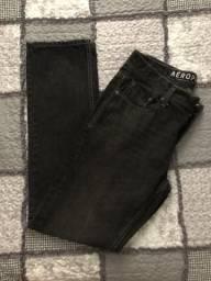 Calça Jeans Preta - AÉROPOSTALE